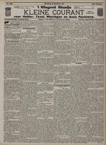 Vliegend blaadje : nieuws- en advertentiebode voor Den Helder 1910-09-28