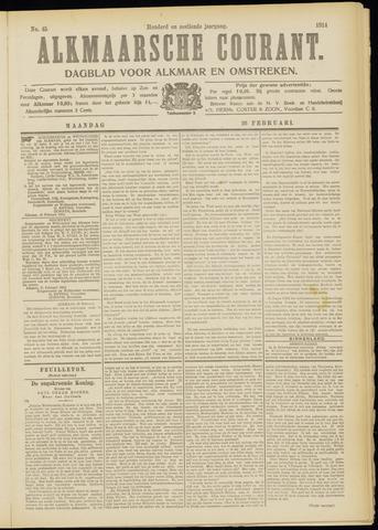 Alkmaarsche Courant 1914-02-23