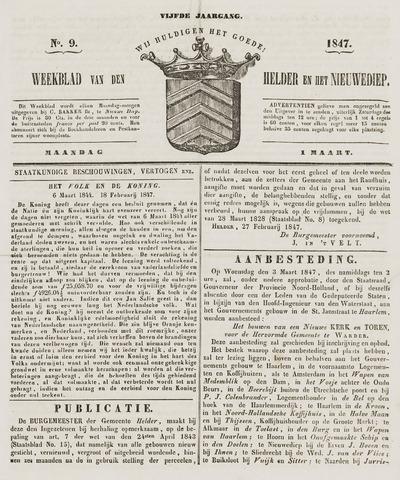 Weekblad van Den Helder en het Nieuwediep 1847-03-01