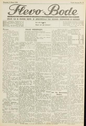 Flevo-bode: nieuwsblad voor Wieringen-Wieringermeer 1949-03-23