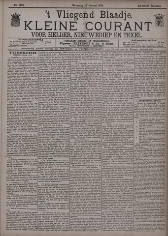 Vliegend blaadje : nieuws- en advertentiebode voor Den Helder 1890-01-15