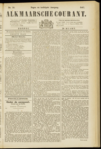 Alkmaarsche Courant 1887-03-20