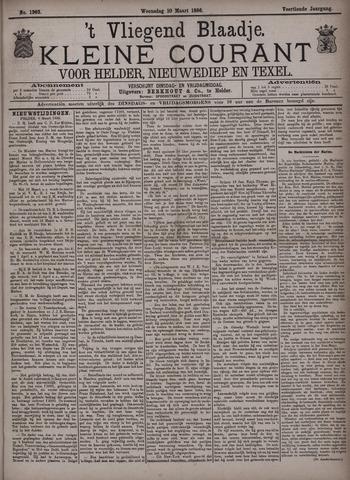 Vliegend blaadje : nieuws- en advertentiebode voor Den Helder 1886-03-10