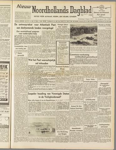 Nieuw Noordhollandsch Dagblad : voor Alkmaar en omgeving 1949-03-09