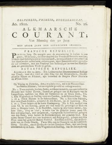 Alkmaarsche Courant 1800-06-30