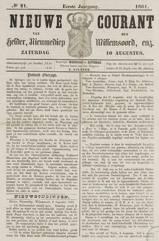 Nieuwe Courant van Den Helder 1861-08-10