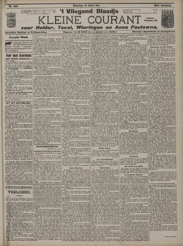 Vliegend blaadje : nieuws- en advertentiebode voor Den Helder 1910-04-23