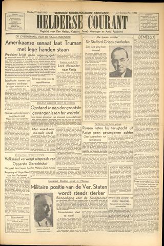 Heldersche Courant 1952-04-22