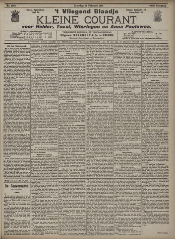 Vliegend blaadje : nieuws- en advertentiebode voor Den Helder 1907-02-16