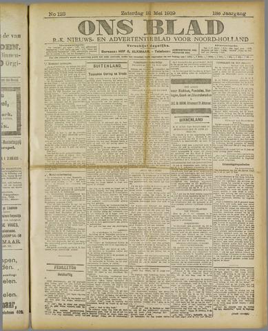 Ons Blad : katholiek nieuwsblad voor N-H 1919-05-31