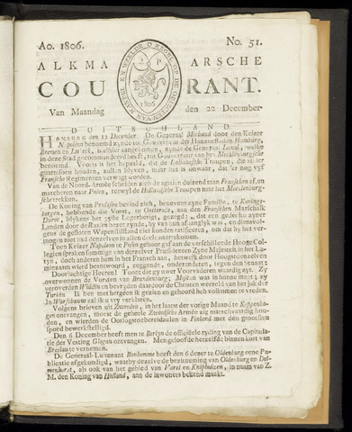 Alkmaarsche Courant 1806-12-22