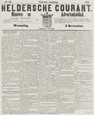 Heldersche Courant 1875-11-03