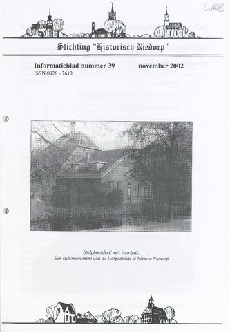 Informatieblad stichting Historisch Niedorp 2002-11-01