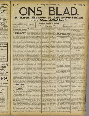 Ons Blad : katholiek nieuwsblad voor N-H 1911-02-11