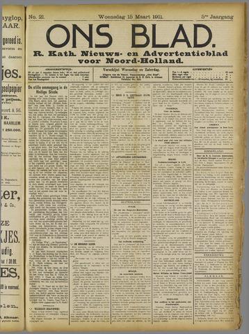 Ons Blad : katholiek nieuwsblad voor N-H 1911-03-15