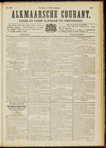 Alkmaarsche Courant 1909-12-03