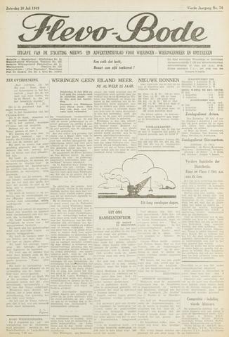 Flevo-bode: nieuwsblad voor Wieringen-Wieringermeer 1949-07-30