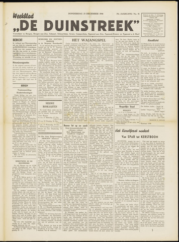 De Duinstreek 1948-12-23
