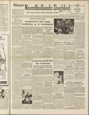 Nieuw Noordhollandsch Dagblad : voor Alkmaar en omgeving 1949-03-16