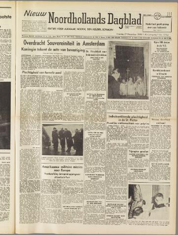 Nieuw Noordhollandsch Dagblad : voor Alkmaar en omgeving 1949-12-27