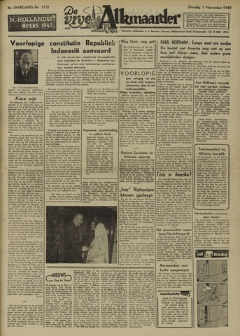 De Vrije Alkmaarder 1949-11-01