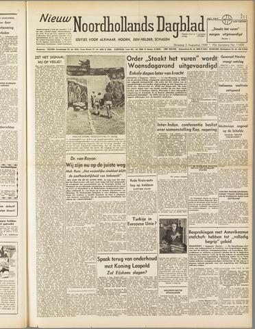 Nieuw Noordhollandsch Dagblad : voor Alkmaar en omgeving 1949-08-02