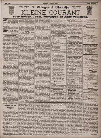 Vliegend blaadje : nieuws- en advertentiebode voor Den Helder 1903-01-03