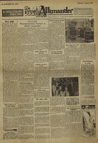 De Vrije Alkmaarder 1950