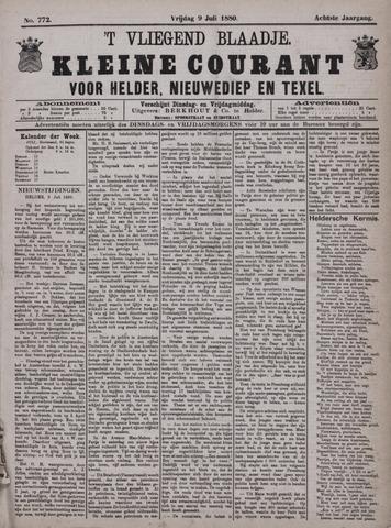 Vliegend blaadje : nieuws- en advertentiebode voor Den Helder 1880-07-09