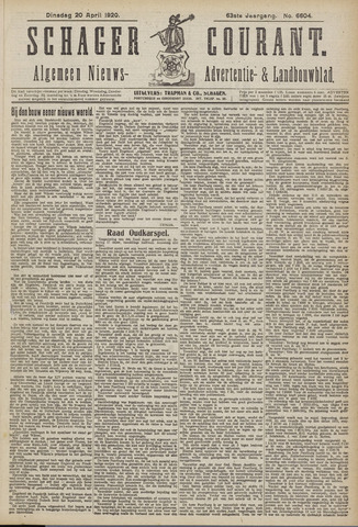 Schager Courant 1920-04-20
