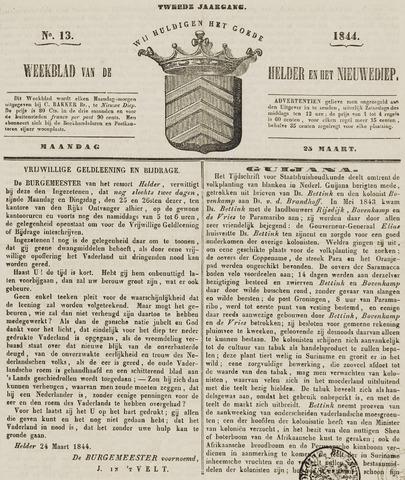 Weekblad van Den Helder en het Nieuwediep 1844-03-25