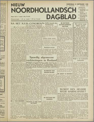 Nieuw Noordhollandsch Dagblad : voor Alkmaar en omgeving 1945-09-19