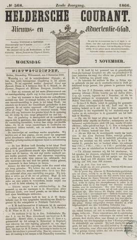 Heldersche Courant 1866-11-07