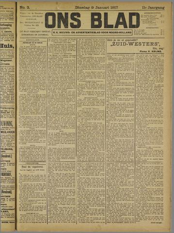 Ons Blad : katholiek nieuwsblad voor N-H 1917-01-09