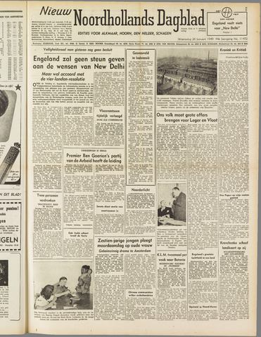 Nieuw Noordhollandsch Dagblad : voor Alkmaar en omgeving 1949-01-26