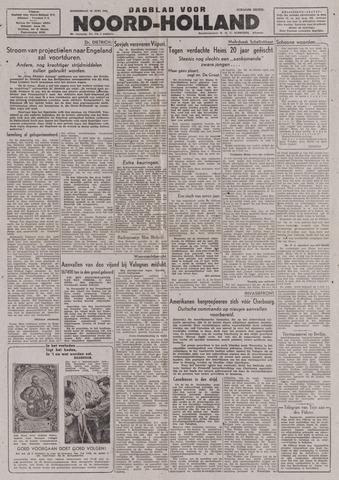 Dagblad Noord-Holland, Schager editie 1944-06-22