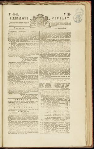 Alkmaarsche Courant 1845-09-29