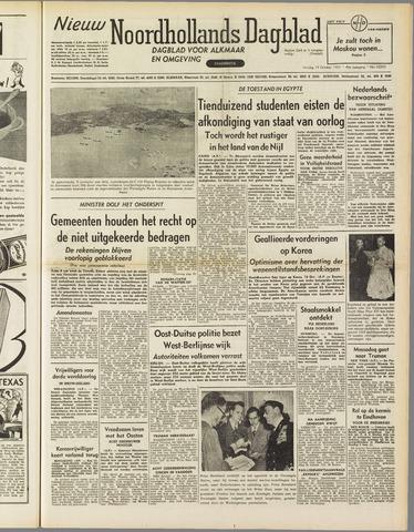 Nieuw Noordhollandsch Dagblad : voor Alkmaar en omgeving 1951-10-19