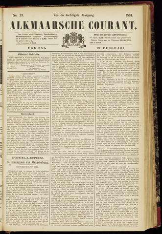Alkmaarsche Courant 1884-02-22