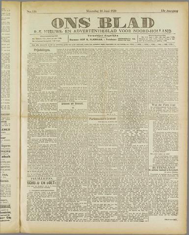 Ons Blad : katholiek nieuwsblad voor N-H 1920-06-14