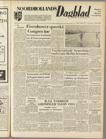 Noordhollands Dagblad : dagblad voor Alkmaar en omgeving 1954-01-08