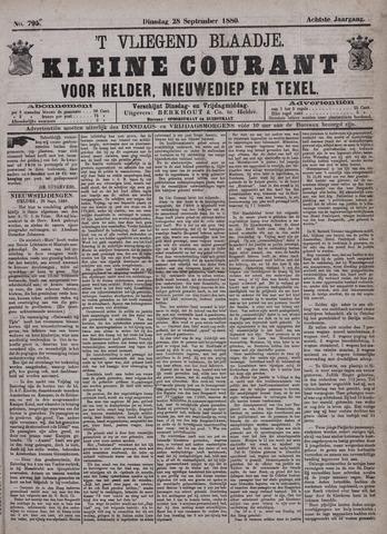 Vliegend blaadje : nieuws- en advertentiebode voor Den Helder 1880-09-28