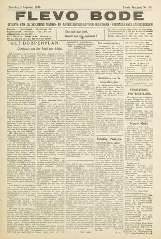 Flevo-bode: nieuwsblad voor Wieringen-Wieringermeer 1946-08-03