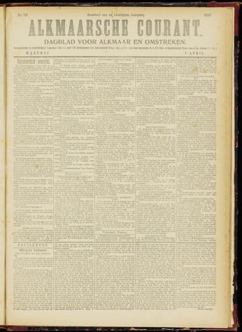 Alkmaarsche Courant 1919-04-07
