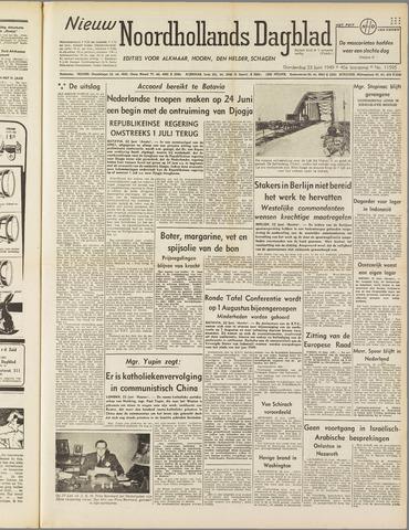 Nieuw Noordhollandsch Dagblad : voor Alkmaar en omgeving 1949-06-23