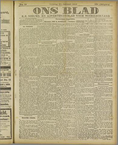 Ons Blad : katholiek nieuwsblad voor N-H 1919-01-24