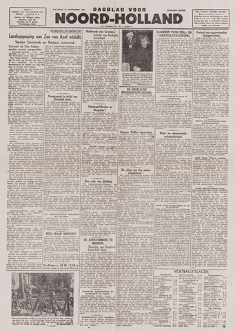Dagblad Noord-Holland, Schager editie 1943-09-27