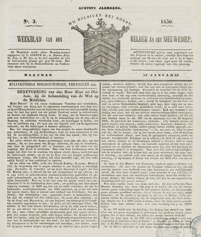 Weekblad van Den Helder en het Nieuwediep 1850-01-14