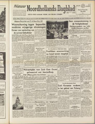 Nieuw Noordhollandsch Dagblad : voor Alkmaar en omgeving 1950-08-22