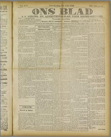 Ons Blad : katholiek nieuwsblad voor N-H 1919-07-24
